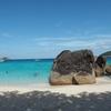 シミラン諸島の早朝ツアーで、ビーチ一番乗り!