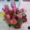 美容室オープンのお祝いフラワーアレンジメントと観葉植物
