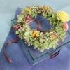 プリザーブドフラワーを使った夏らしい紫陽花のリース作り体験レッスン