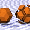 菱形三十面体のCG