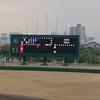 オセアンBCスタジアム彦根(県立彦根球場)のスコアボードがやっと改修されました
