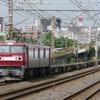 7月7日撮影 東海道線 平塚~大磯間 強風の中いつもの貨物列車2本撮影 1097ㇾ 2079ㇾ