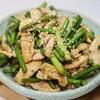 にんにくの芽と鶏むね肉炒め、安く美味しく韓国家庭の味