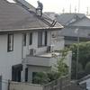 北側屋根の塗装 ファイバーとパテ塗り