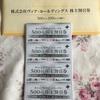 ヴィア・ホールディングス(7918)から優待が到着: 食事割引券5万円