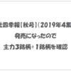 会社四季報【秋号】(2019年4集)が発売になったので主力3銘柄+1銘柄を確認