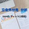 【立会外分売の分析】4440 ヴィッツ(2回目)
