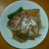 オリジナル作:ごぼう と 鯛の煮付け。