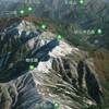 Google Earthで日本二百名山 / 金剛山 / 氷ノ山 / 蒜山 / 三嶺 / 東赤石山