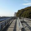 明石公園の城跡で櫓と天守台からの景色を眺めてきた!無料の仮設バイク置き場あり【兵庫県明石市】
