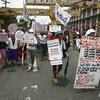 フィリピンで慰安婦(性奴隷)にされた被害者女性たちが抗議デモ