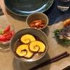 伊達巻ラーメン、アボカドとトマトのサラダ、キムチ、鯖、餃子