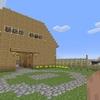 【マイクラ】馬の厩舎を建てました