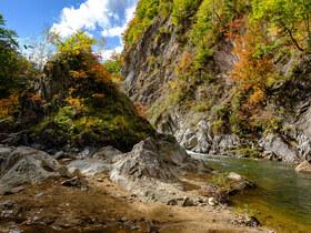 秋を感じに紅葉時期の定山渓温泉へ写真撮影に行ってきた