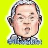 iPadproで描いた 喝の張本勲さんの似顔絵と似顔絵動画。