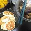 豆腐ハンバーグ、なすの揚げ浸し、カボチャサラダ、味噌汁