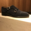 ALFRED SARGENT navy suede double monk ~松屋銀座~