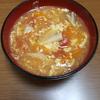戦利品を使った晩御飯 トマトスープ