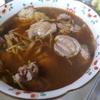 幸運な病のレシピ( 2149 )夜 :鶏のジックリ焼き(ローズマリー・ニンニク+バルサミコ酢のソース)、砂肝の蒸煮(紹興酒・醤油・オイスターソース)、汁