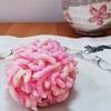 とらや @横浜そごう 目でも舌でも楽しむお皿の上に咲く桜 きんとん製 遠桜