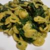 イタリアの菜の花チーマディラーパと小耳型パスタ・オレッキエッテ