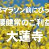 京都マラソン完走祈願にぴったり!足腰健常のご利益がある「大蓮寺」