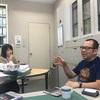 午前は多摩で授業。午後は九段で会議。