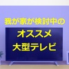 第17回【大型テレビの検討のため、家電量販店に行きました】