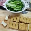 小松菜と厚揚げは最高の組み合わせ(^^♪ひき肉の入れてあんかけ炒めにしてみました!
