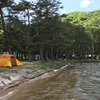 週末、木崎湖でデイキャンプ。