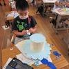 2年生:図工 帽子と卵の完成