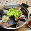 お好きな貝ですっきりピリ辛スープ / チョゲチョンゴル<조개전골>