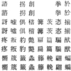 写研の字体変更など_手動機・電算