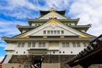 大阪城天守閣へ! 青空と天守閣が美しかった!