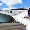 《佐渡汽船》高速フェリーあかねに乗船。インキャット製双胴船、二度あることは……??