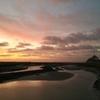 モンサンミッシェルの美しい夕陽