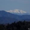 文殊公園から見る御嶽と南アルプス山脈