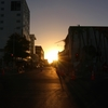 まぶしい朝日🌞と夕日🌇の時間帯は視界不良による事故に注意!