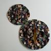 斉藤謠子さん「いま作りたいシンプルな服とかわいい小物」から丸いバッグをつくりました。