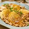 【レシピ】新玉ねぎとひき肉のガリバタ醤油ソテー