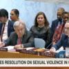 第8514回安全保障理事会:紛争下の性的暴力の終結に対する具体的コミットメントを採用するよう全世界の交戦国に要請する決議を採択(慰安婦問題に関する日韓の「応酬」)