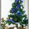 クリスマスツリー(大)と100均でツリーカバー作り。