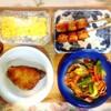つくね串、鰤照り焼き、豚肉野菜、玉子焼き