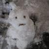 今シーズン初雪だるま。