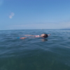 バトゥミにて。黒海で泳ぐことにロマンを感じて。