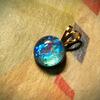 レジンクラフト:青いラウンドカボション blue round cabochon