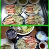 22日の晩御飯(かに)