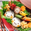 【キャラ弁】カラフルお魚ソーセージとチーズ竹輪の肉巻き弁当