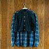 【リメイク子供服】無印良品のメンズシャツ(Lサイズ)をキッズシャツ(110)に作り替え