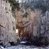 白山洞門と松尾漁港の巻